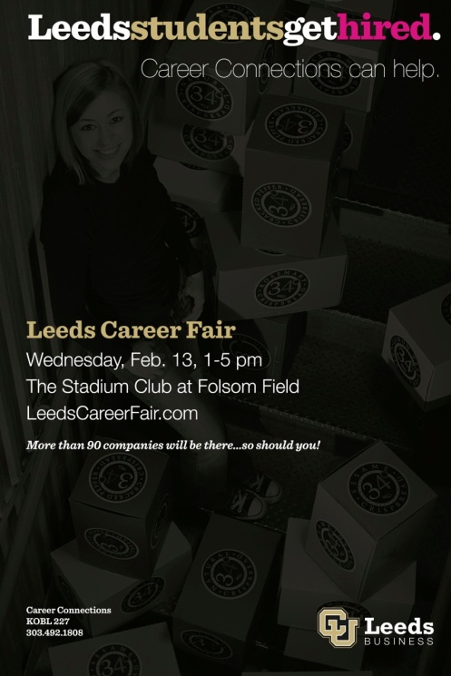 Larger Leeds Career Fair poster